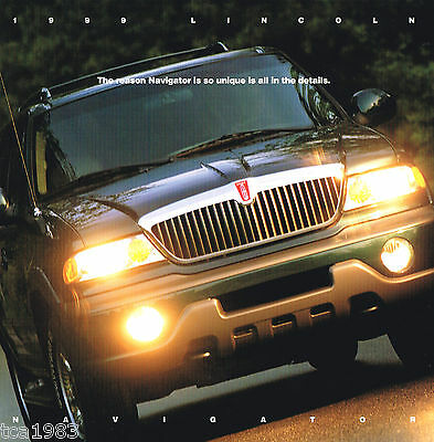 Big 1999 LINCOLN NAVIGATOR Brochure / Catalog with Color Chart