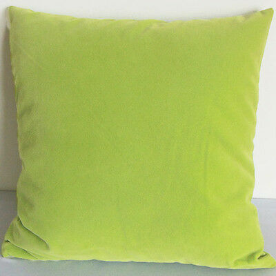 Green tea Suede Like Velvet Cushion Cover Case Made to Order #u17-cc-tp-18