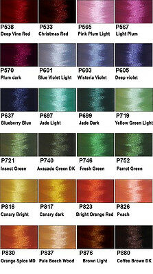 144 Plastic Sided Prewound Embroidery Bobbins 24 COLORS *L* ThreaDelight 60wt