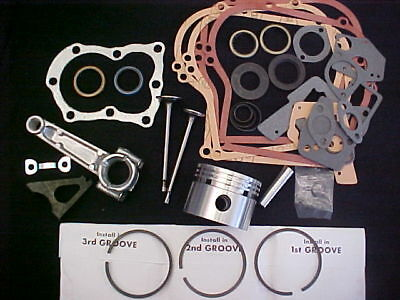 for 5HP, 5 horse power for Briggs and Stratton rebuild 020 Bore,Rod,Valves