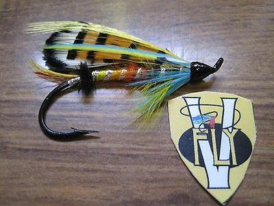 """hook size 2//0 CLASSIC SALMON FLY /""""Durham Ranger/"""" Fly fishing"""