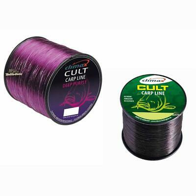 (0,0199€/m) Climax Cult Carp Line Deep Purple + Black 0,28-0,40mm Karpfenschnur