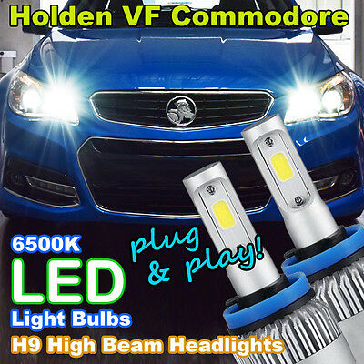 LED Light Bulbs to suit Holden/HSV VF Commodore High Beam (H9 6500K 'HID White')