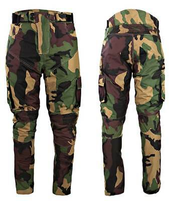 Camo CE Armour Textile Waterproof Motorbike Motorcycle Trousers Jeans Pants Army