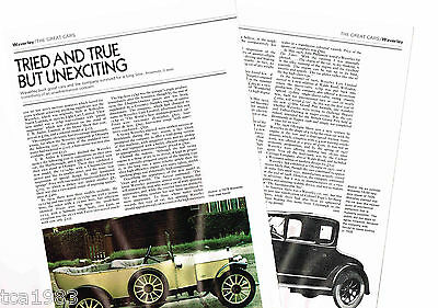 Old WAVERLEY (UK) Cars/Auto Article / Photos / Pictures