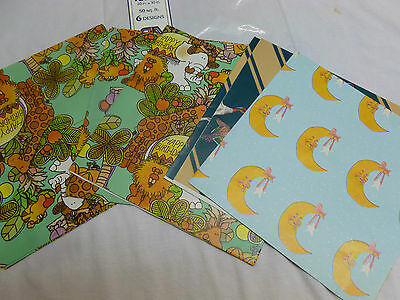 Vtg Gift Wrap Wrapping Paper Scrapbbok Craft Jungle Animal Mens Duck Lot