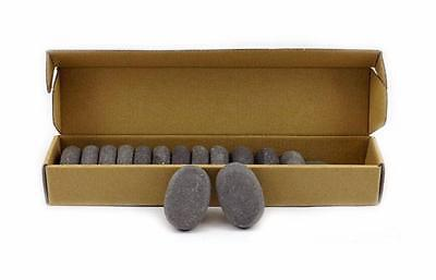 HOT STONE MASSAGE Box of 15 Small Basalt Stones 6x4x2cm