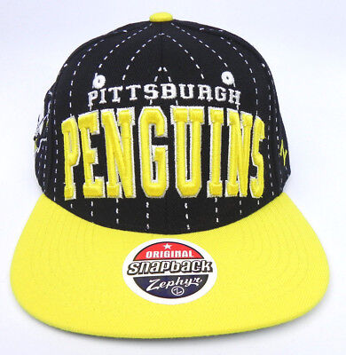Pittsburgh Penguins Nhl Vintage Super Snapback Retro 2-Tone Z Cap Hat New!