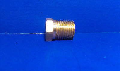 Solid Brass Hex Adapter Fitting Reducer 1/4 Male 1/8 Female NPT Air Fuel Water