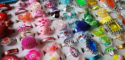 Bulk Lot of 20 Kids Party Favor Rings SAMPLE PACK New WHOLESALE