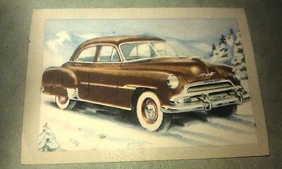 1951 CHEVROLET   Jacques Chocolates BELGIUM Trade Swap Card