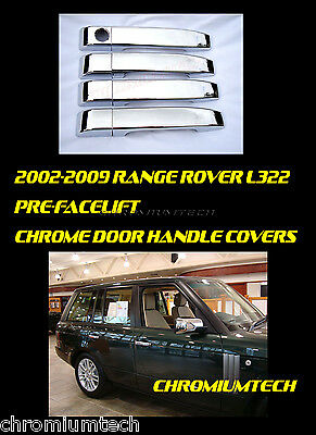 2002-09 RANGE ROVER Vogue L322 CHROME Door Handle Cover Supercharged Land Rover