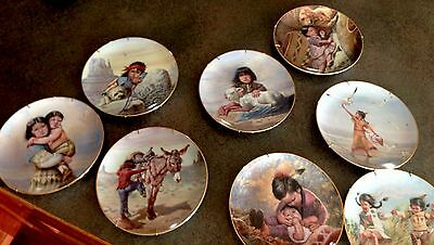8 Children Of The Prairies Collector Plates By Perillo