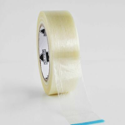 "48 Rolls 1 1/2"" 60 Yds Filament Strapping Tape Fiberglass Packing Tapes 3.9 Mil"