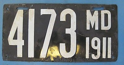 1911 Maryland Porcelain License Plate - *MUST SEE*