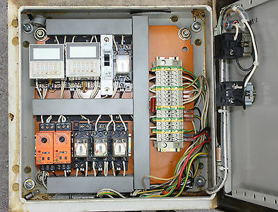 Conveyor Lubrication control box with timers and relays