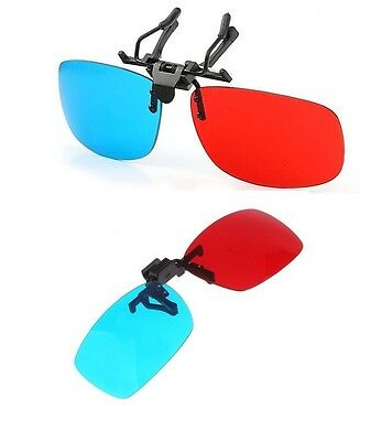 clip on 3d glasses Red cyan myopia 3d glasses for movie clips clip-on 3d glass