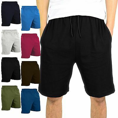 Mato & Hash Mens Heavyweight 100% Cotton Gym Shorts With Pockets
