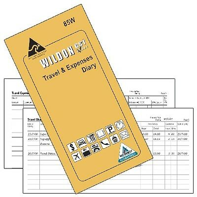 Vehicle Travel and  Expenses Diary Vehicle Log Book by Wildon, 85W, Yellow