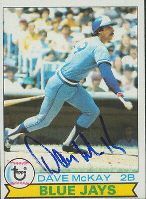 1979 TOPPS - DAVE McKAY #608 TORONTO BLUE JAYS AUTOGRAPH RTC