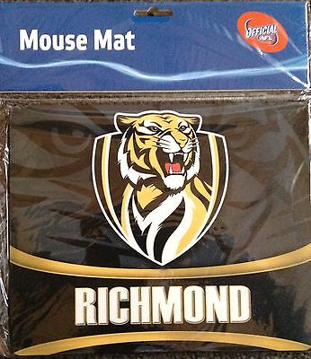 Richmond Tigers AFL MOUSE PAD Mat Computer Or Look Unreal Framed Frame