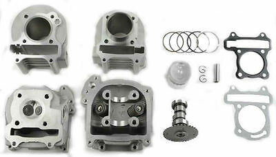 GY6 Scooter Big Bore Kit 72cc Emission Head including performance camshaft