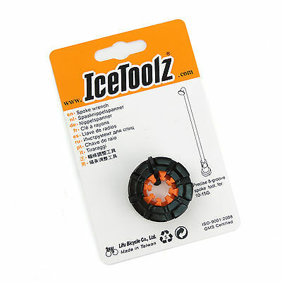 IceToolz 12F8 Forged 8-groove Spoke Cr-Mo Steel Bike Bicycle Cycling Wrench Tool