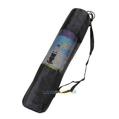 Nylon Mesh Center Yoga Mat Bag Adjustable Strap Carrier