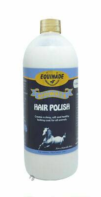 Equinade HAIR POLISH detangles shines show sheen dirt stain for Horses Dogs 1lt