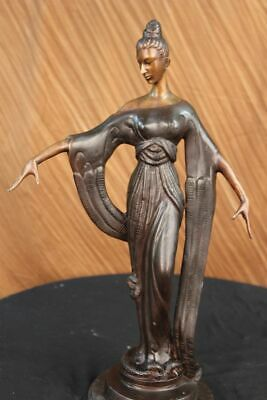 Hollywood actress Greta Garbo the black pirate spelter bronze deco style figure