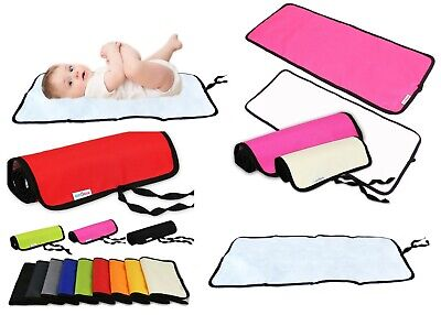 Travel Baby Changing Mat Portable Folding Waterproof 8 Colours To Choose New