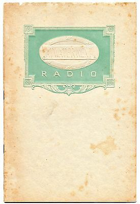 Radio Catalogo 1926 Atwaterkent Philadelphia Usa