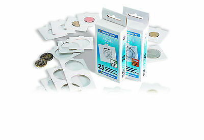 Numis Lighthouse 2 x 2 Self Adhesive Cardboard Coinholders - Box of 25