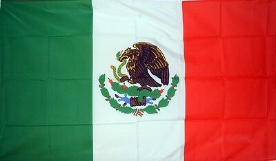 MEXICO 5 X 3 FEET FLAG polyester fabric MEXICAN MEXICANO CENTRAL AMERICA FLAGS
