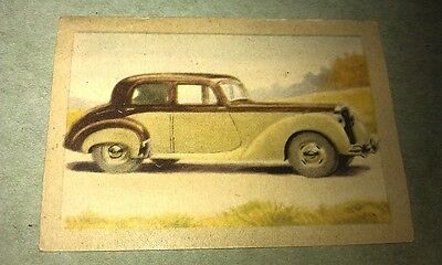 1951 ALVIS  Jacques Chocolates BELGIUM Trade Swap Card - RARE !