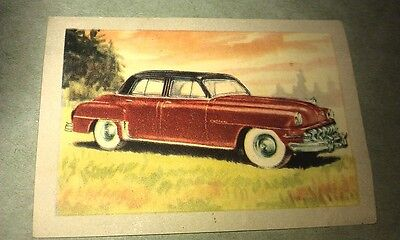 1951 DESOTO CUSTOM  Jacques Chocolates BELGIUM Trade Swap Card - RARE !