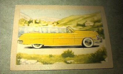 1951 MERCURY Convertible  Jacques Chocolates BELGIUM Trade Swap Card - RARE !