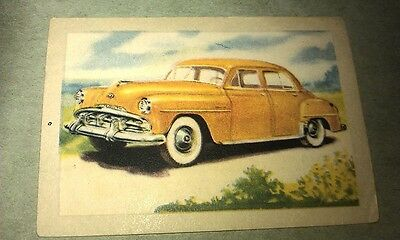 1951 PLYMOUTH  Jacques Chocolates BELGIUM Trade Swap Card - RARE !