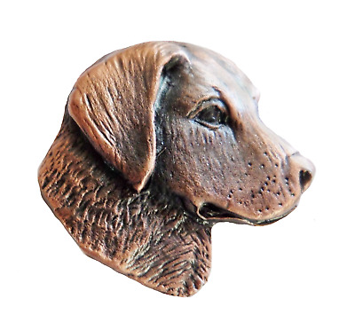 Golden Retriever Bronzed Pewter Pin Badge - Exclusive to 1000 Flags - BZ11