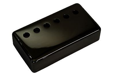 "Humbucker Pickup cover ""Jet Black Nickel"" plated nickel silver 50mm pole spacing"