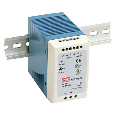 Mean Well MDR-100-24 AC to DC DIN-Rail Power Supply 24 Volt 4 Amp 96 Watt