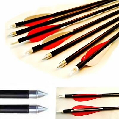 "10 Fibreglass CARBON GRADE Archery Arrows  28"" inch Target & Field Archery"