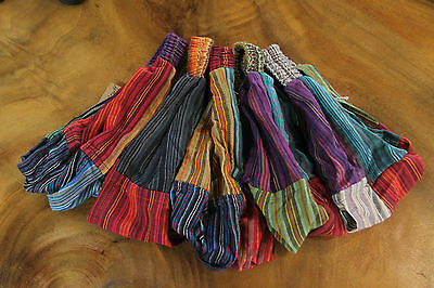 Funky Quality Nepalese Stripey Cotton Patch Head Band Rrp $6 Wholesale Outlet