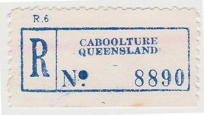 (RB74) 1950 QLD registration label Caboolture no8890