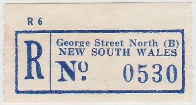 (RB63)1950NSWregistration labelGeorgeSt north (B)no0530