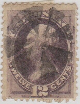 (RB37) 1870 USA 12c purple Henry clay ow153