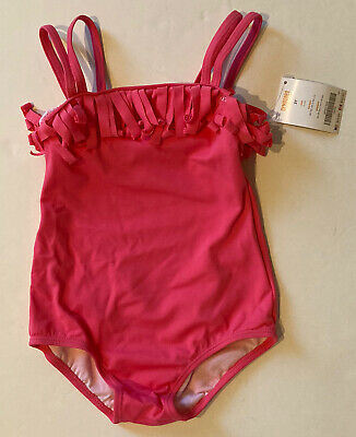 NWT Gymboree Seashell Coral 3 3T Pink Double Strap Fringe Swimsuit