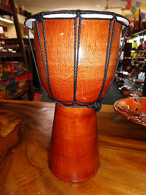 Quality Hand Made Drum 25 Cm High Plain Bongo Drum Djembe Rrp $30 W/sale Outlet