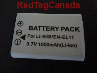 Battery for Nikon EN-EL11 ENEL11 Coolpix S550 S560 1000mAh - Canada