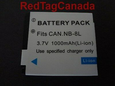 Battery for Canon NB-8L NB8L PowerShot A3200 A3300 IS 1100mAh - Canada